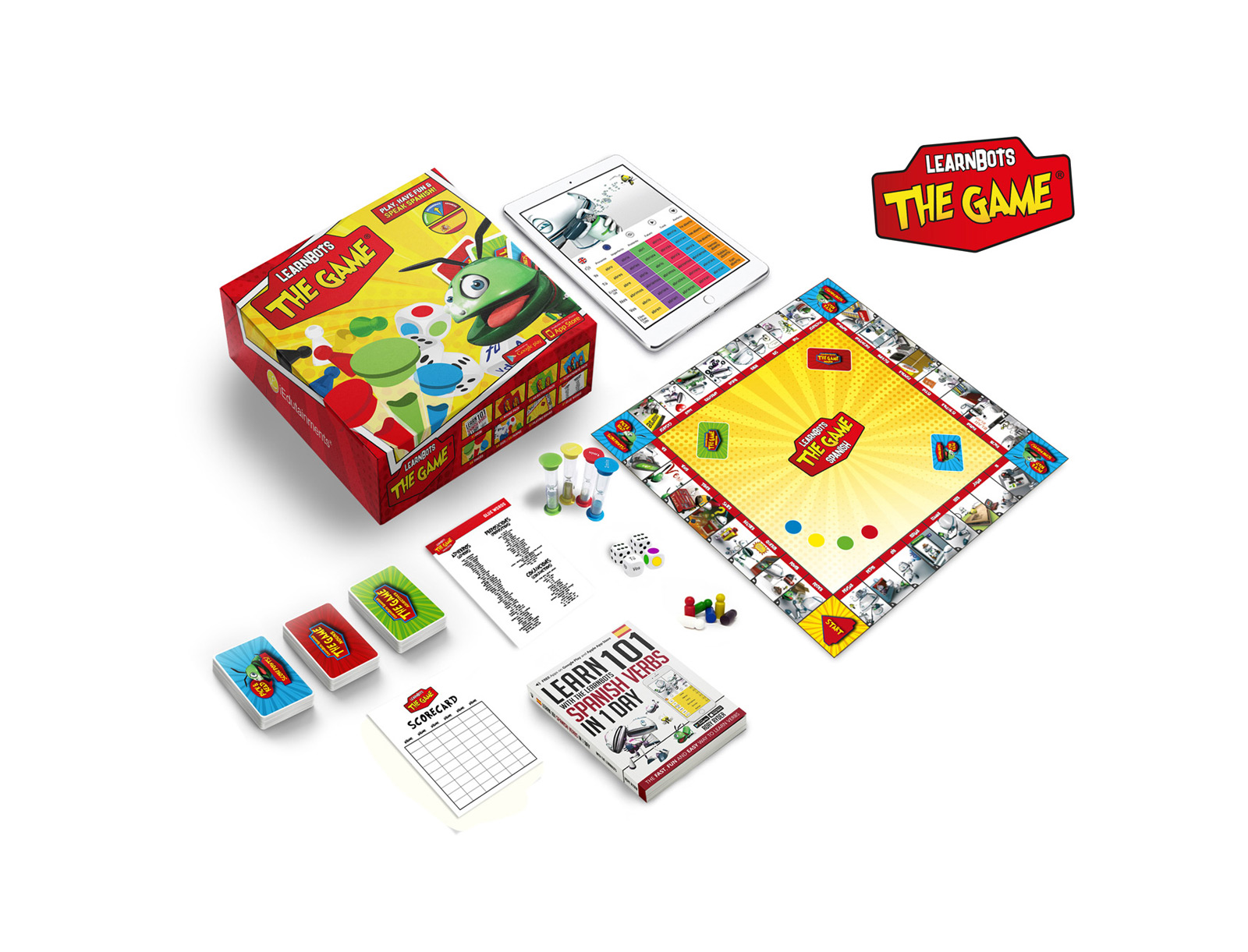 Use our books and board games. If it's digital, then they can choose from our apps, online verb tables or software for whiteboards.
